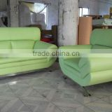2013 new Living room 1 23 furniture modern sofa set genuine leather chair loveseat sofa set 3 peice fresh green Leather 9067-5