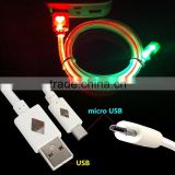 Passerby 7 colors Colorful USB Power cable wire with mini usb pin cable for mobile and powerbank