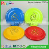 India market 2015 new BSCI China factory children game 23cm Soft PE Foldable Flying Golf Disc outdoor toys manufacturing