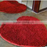 High quality comfortable polyester carpet for houseware/Hot Sale Modern Design Chenille Jacquard Carpet/ Rug Washable Antiskid