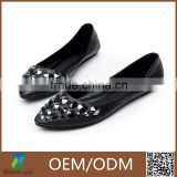 women ballet shoes with metal chain decoration