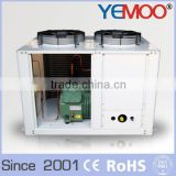 YEMOO 10hp blower type ac fan motor condeser refrigeration condensing unit with U type condenser and Bitzer Copeland compressor