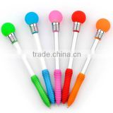 Novelty top selling bulb shape ball pen with led light,pen light bulb,led pen light                                                                         Quality Choice