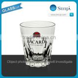 SH368 Bacardi wine glass cups business gift drinking wine whisky glass cup glasses machine pressed whiskey cup glass