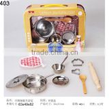 Hot Selling realistic stainless steel kitchen set toy,kitchen set toy for age 3+