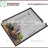 Factory price Transparent clear menu holder, 8 views menu cover, vinyl booklet menu cover