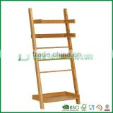 slant bamboo standing towel rack with tray