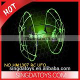 Four Axis HM1307 2.4G Glow In The Dark RC Quadcopter with protective ring anti-throw fluorescence