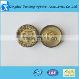 Special metal press stud button