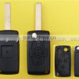 Lower price for Peugeot 407 4 buttons Remote Flip Folding Key Shell Case without battery place