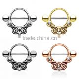 316L Surgical Steel Nipple Shields Rings Body Jewelry
