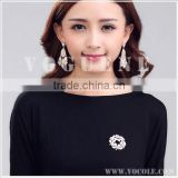delicate beauty flower crystal metal alloy brooch