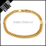 Hip Hop 18k Gold Miami Cuban Chain Bracelet