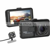 Dual Camera G-Sensor HD 1080P 3.0 inch 170 Degree motorcycle dvr camera