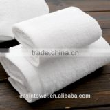 Plain Style White Color 100 Percent Cotton Hotel Towel Selecting Different Efficent