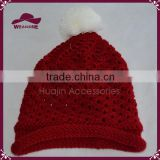 New Arrival Hot Selling Popular High Quality Winter Warm Hollow Out Cloched Knitted Hat For Girl