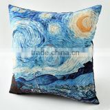 Oil Painting Home Safe Decorative Cotton Linen Throw Pillow Case Cushion Cover 18X18 Inch