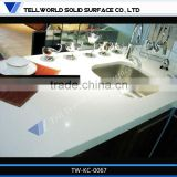 Artificial marble top kitchen work table Custom make