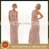 PS-24 Generous Khaki One Shoulder Special Occasion Gowns 2015 Custom Made Size Tea Length Prom Dress for Formal Evening Party