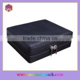 Black Luxury Lacquer Jewelry Box Packaging & Jewelry Safety Packaging Suitcase with Lock Wholesle
