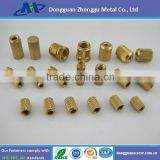 Ultrasonic Brass Threaded Inserts for Plastics, Furniture Insert Nuts for Wood, Connection Brass Insert ppr Pipe Fittings