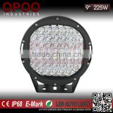 Quality 225w led driving light,Offroad Car 9'' 225w led driving light