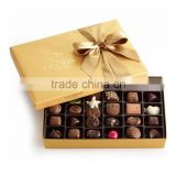 Wholesale luxury chocolate cardboard empty boxes packing, chocolate paper gift packaging, chocolate box