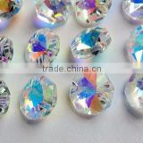 6.28 -8 12 Iridescent AB Asfour Full Lead Crystal 14mm Octagon Beads Shabby Chic Aurora Borealis Prisms