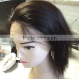 cheap lace front wig with baby hair bob style human hair full lace wig silk base wig cap
