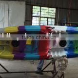 No inflatale 3 people sea kayak fishing (2 adult +1 child),plastic kayak.sea kayak,3 person kayak