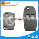 2 button flip remote key shell with abs material uncut blase without logo for volvo s60 s40 s80 xc90