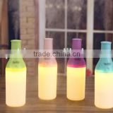 Mini wine bottle shape steam humidifier, mini cooper air humidifier with led night light