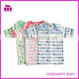 100% cotton short sleeve new born baby clothes set
