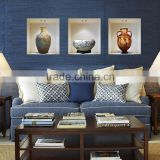 Chinese style ceramic vase vinyl wall stickers home decor decoration living room sitting room promotion 3d wall sticker Z-002