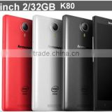 4G LTE Lenovo K80 phone 5.5Inch FHD Intel Atom Z3560 Android 4.4 Quad Core RAM 2GB ROM 32GB 13MP Dual SIM china brand phone