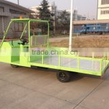 three wheel mini flat low bed electric truck for collecting 50L rubbish-collecting bins