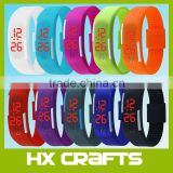 2016 New Womens/mens/kids Silicone Band Touch Screen Red Light Sports LED Watch Bracelet