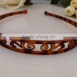 1.5cm headbands for long hair No-slip Effortless hair band Wide brown Black Plastic Wavy Trim Hair Hoop Headband for Ladies