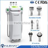 2016 newest cryotherapy fat freezing device 5 handles / units cool tech fat freezing machine for body slimming