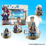 Pirate Resin Stone Finish Collection including Picture/Photo Frame, Jewelry Box , Snow Globe, Magnet Bottle Opener and Shot Glas