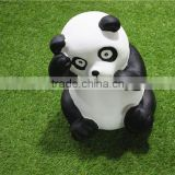 Home garden seats christmas decorative 30cm Height small artificial white and black fiberglass chinese flat Panda E10 28X04