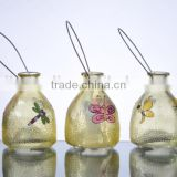Garden Decorative Hand Painted With Animals Hanging Glass Insect Catcher