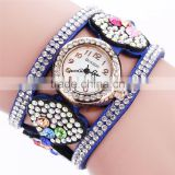 charming sexy lady decoration watch Fashion Korean velvet heart-shaped female diamond bracelet wristwatch