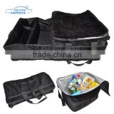 Heavy Duty Polyester New Design Multi Function Foldable Car Trunk Organizer with Alone Cooler Box Bag