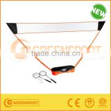 Badminton Compelete Set Plastic stand and PE net from factory.
