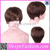 Lover-beauty Short Cheap Brown Hairpiece Wholesale