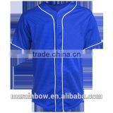 Custom Stripe Baseball Jersey Blank Wholesale Sportswear Mesh 100% Polyester Baseball Jersey with Contrast Piping
