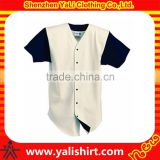 High quality bulk black short sleeve cheap PU leather blank baseball jerseys wholesale