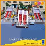 New style children paradise outdoor giant inflatable fun city kids playground with slide for sale