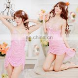 Guangdong Wholesale Hot Fashion New Ladies Lrregular Shape Slip and Lace White Pink Transparent Sexy Lingeries